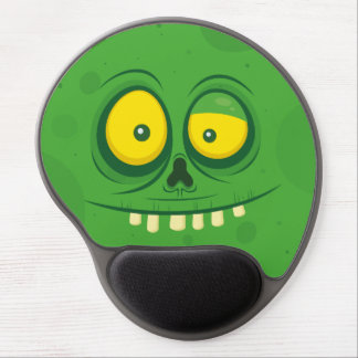 Halloween Green Monster Face Gel Mouse Pad