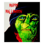 HALLOWEEN GREEN WITCH poster