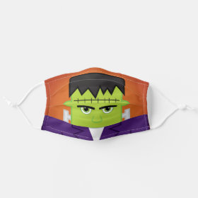 Halloween Green Zombie Monster Cloth Face Mask
