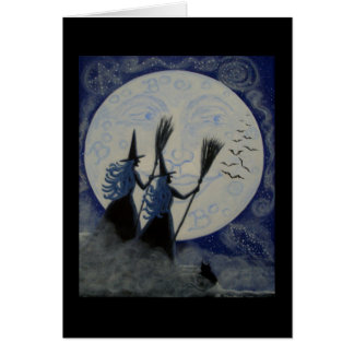 Halloween Greeting Card witches constellations