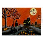 Halloween Greeting Card ,witches,Jack-O-Lanterns
