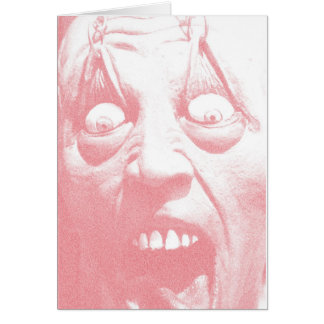 Halloween Greeting Card Zombie Face