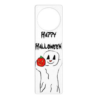 HALLOWEEN GREETING GHOST door hanger