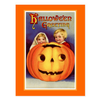 """""""Halloween Greeting"""" Post Cards"""