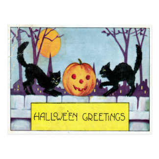 Hallowe'en Greeting Postcard