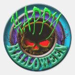Halloween greeting sticker