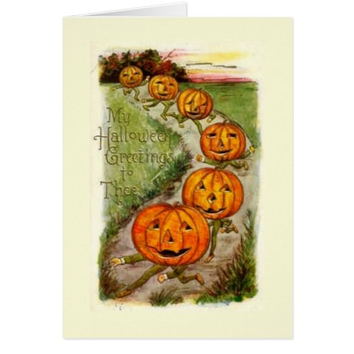 Halloween Greeting To Thee Greeting Card