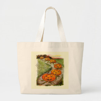 Halloween Greeting To Thee Large Tote Bag