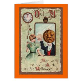 Halloween Greeting - Vintage Design Circa 1910 Card