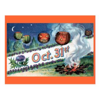 Halloween Greeting - Vintage Design Circa 1910 Postcard