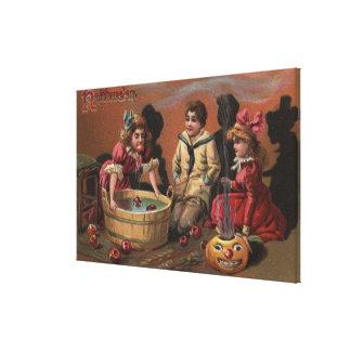 Halloween GreetingBobbing for Apples #2 Canvas Print