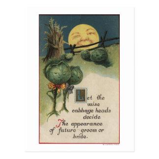 Halloween GreetingCabbage Anthropomorphism Postcard
