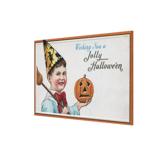 Halloween GreetingJolly Halloween Lienzo Envuelto Para Galerias