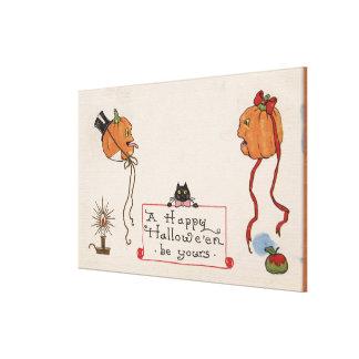 Halloween GreetingMr. & Mrs. Jack-O-Lantern Canvas Print