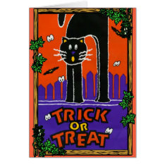 Halloween Greetings Card at Zazzle