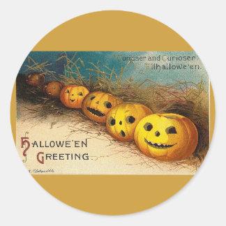 Halloween Greetings Classic Round Sticker