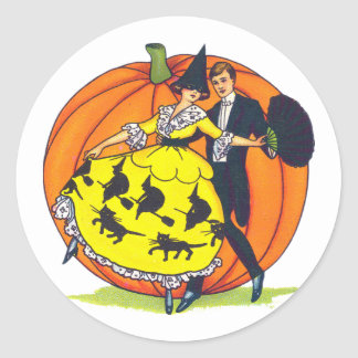 Hallowe'en Greetings Classic Round Sticker