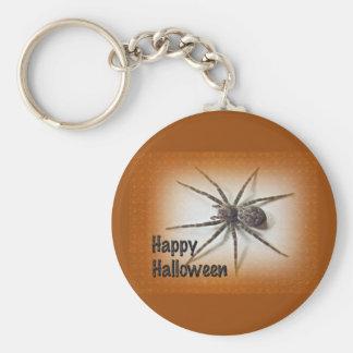 Halloween Greetings - Dolomedes tenebrosus Spider Basic Round Button Keychain