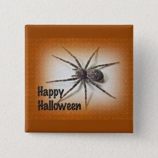 Halloween Greetings - Dolomedes tenebrosus Spider Pinback Button
