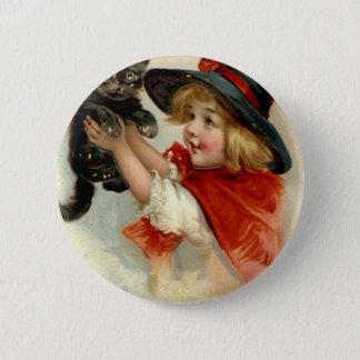 Halloween Greetings - Frances Brundage Button