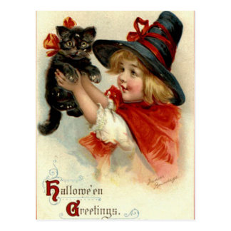 Halloween Greetings - Frances Brundage Postcard