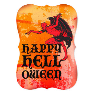 """Halloween greetings from a devil """"Happy Helloween"""" Cards"""