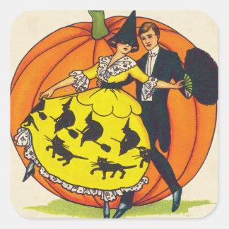 Hallowe'en Greetings Square Sticker
