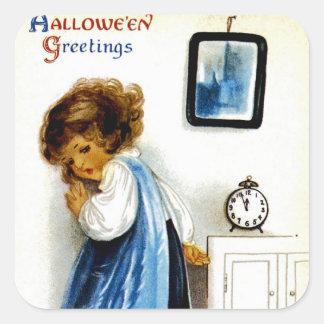 Halloween Greetings Square Sticker