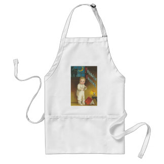 Halloween Greetings Toddler and Book Apron