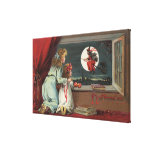 Halloween GreetingWitch from the Window Canvas Print