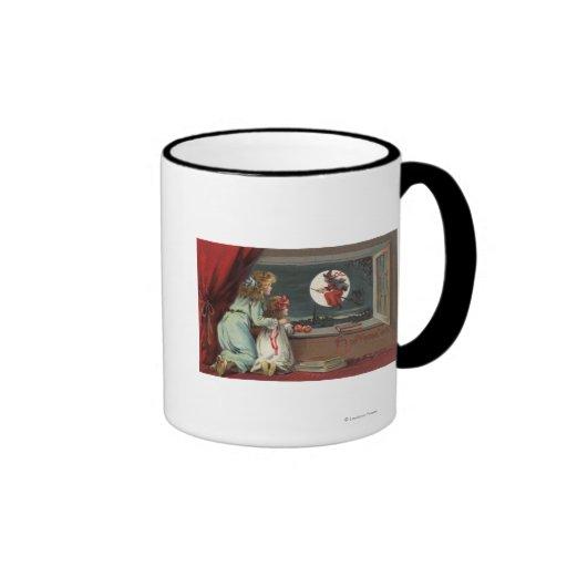 Halloween GreetingWitch from the Window Ringer Coffee Mug