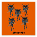 Halloween Gremlins Personalized Poster