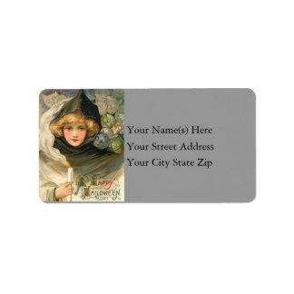 Halloween Gremlins Vintage Address Label