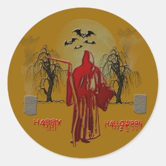 Halloween Grim Reaper Classic Round Sticker