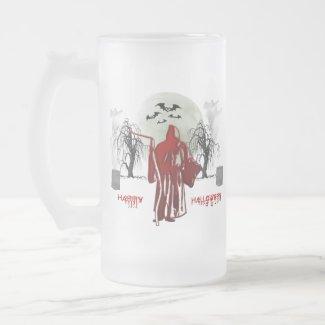Halloween Grim Reaper mug