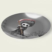 Halloween Grim reaper party paper plate