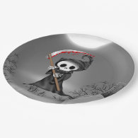 Halloween Grim reaper party paper plate 9 Inch Paper Plate
