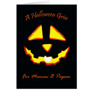 Halloween Grin for Mamaw and Papaw Card
