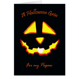 Halloween Grin for Papaw Card