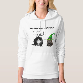 Halloween Grumpy Cat / Cute Kitten Women's Hoodie