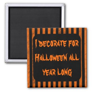 Halloween grungy stripes magnet for your text magnet