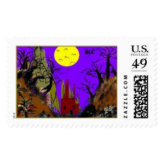 Halloween Gulch Postage Stamp