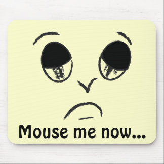 Halloween hace frente: Cara triste - ratón yo… Alfombrilla De Ratón