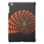 Halloween Hairy Spider in Orange Ovals Tunnel Case For The iPad Mini
