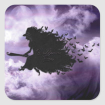 Halloween - Hallows Eve Witch Square Sticker