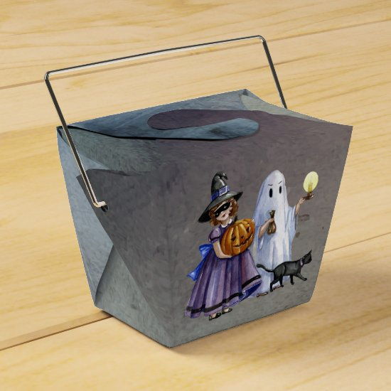 Halloween Hand Painted Treaters Favor Box