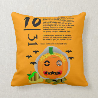 Halloween Hangover Throw Pillow