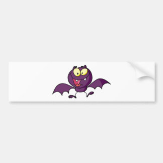 Halloween Happy Bat Bumper Sticker