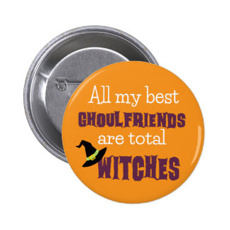 Halloween Happy Ghoulfriends Pinback Button
