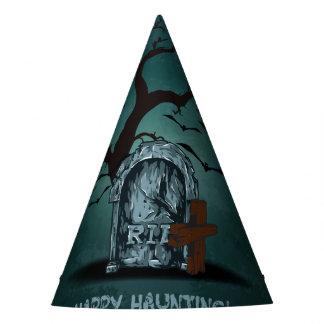 Halloween happy haunting grave RIP dead tree, bats Party Hat